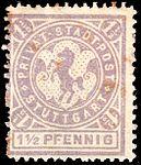 Germany Stuttgart 1887 local stamp 1.5pf - 6a unused.jpg