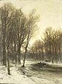 Gezicht op een besneeuwd bos in de namiddag Rijksmuseum SK-A-2691.jpeg