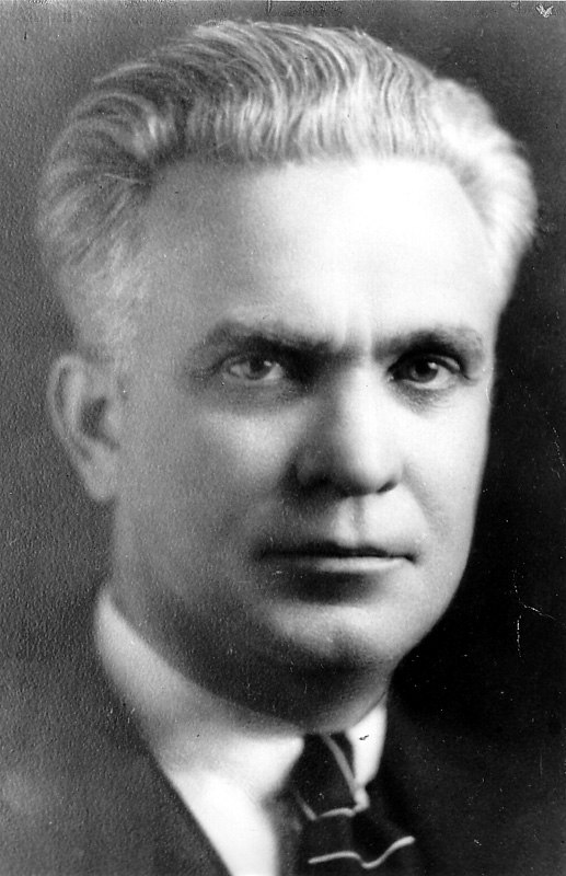 Black and white portrait photo of Clifford
