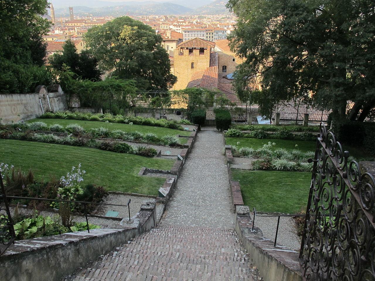 Firenze, Giardino Bardini, giardino a terrazze e Palazzo Mozzi