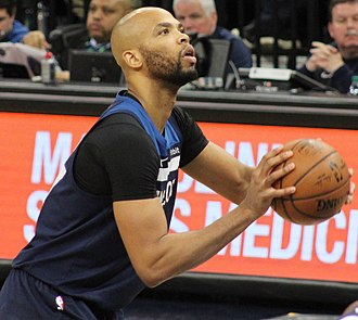 Taj Gibson - Gibson of the Timberwolves shoots a free throw in 2019