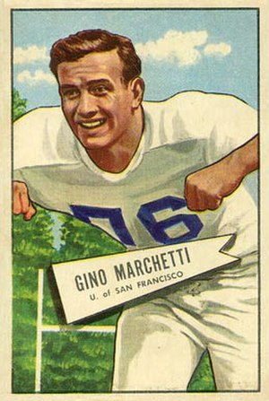 Gino Marchetti - Marchetti on a 1952 Bowman football card