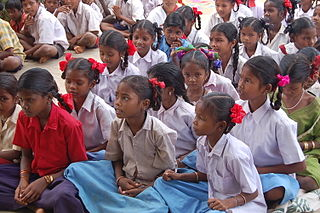 Girls in Chhattisgarh, India