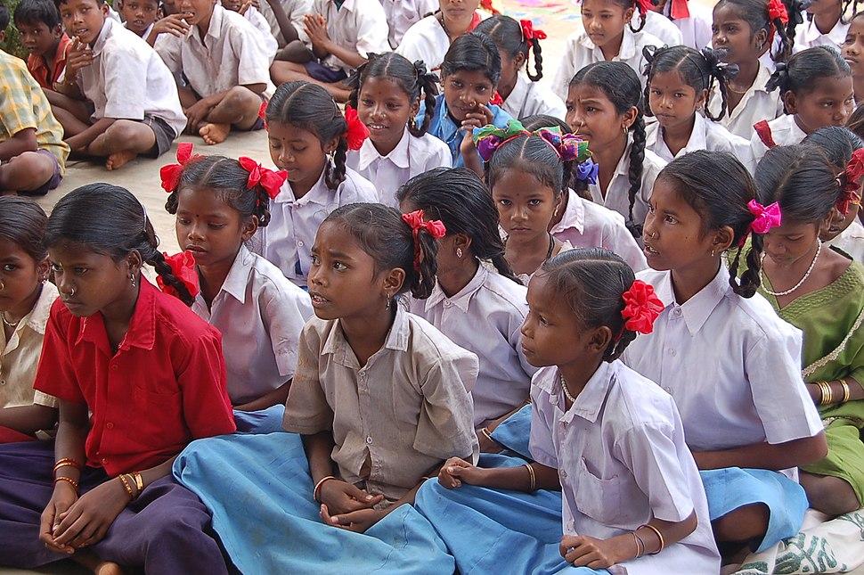 Girls students, Chhattisgarh, India