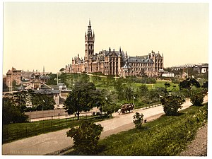 Glasgow - Glasgow University in the 1890s