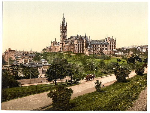 University of Glasgow in the 1890s Glasgow University -Glasgow, Scotland--LCCN2001706004.jpg