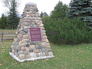 National Historic Sites of Canada - Plaques affixed to cairns were initially used to mark National Historic Sites, such as this one at Glengarry Landing in Ontario