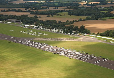 Competition grid at Lasham Airfield in 2009 Gliding competition grid.JPG