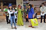 Global Voices members being welcomed at Mactan-Cebu International Airport by Cebu Tourism.JPG