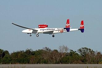 Virgin Atlantic GlobalFlyer - GlobalFlyer arriving at the Kennedy Space Center