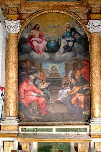 Ventura Salimbeni - Disputa of the Eucharist