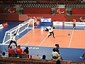 Goalball-2020-Tokyo Paralympics EGY–USA F throwing.jpg
