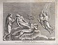 God lifts Eve from sleeping Adam's side. Etching by G.B. Leo Wellcome V0034368.jpg