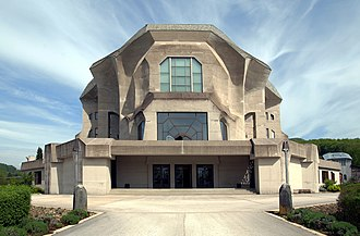 Second Goetheanum, seat of the Anthroposophical Society Goetheanum Dornach.jpg