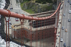 Fort Point, San Francisco - Image: Golden Gate Bridge tower views 07