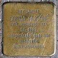 Gonda Hugóné stolperstein (Budapest-13 Hollán Ernő u 3).jpg