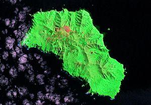 Gough Island - Image: Gough Island Landsat