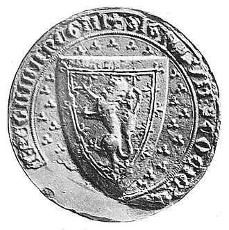 Guardian of Scotland - Great Seal appointed for the Government of the Realm after death of King Alexander III.