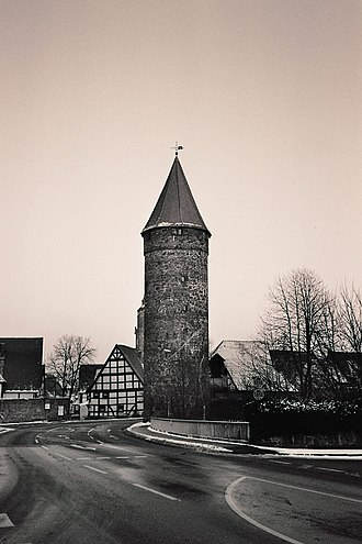 Grebenstein - One of the historic towers on the town wall of Grebenstein