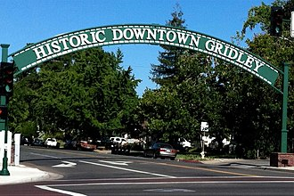 Gridley, California - Gridley Arch welcomes visitors to Historic Downtown