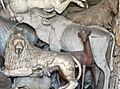 Grotta degli animali, centro, scuola del tribolo, bue, capriolo.JPG