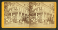 Group of tourists in front of the Hotel, from Robert N. Dennis collection of stereoscopic views.png