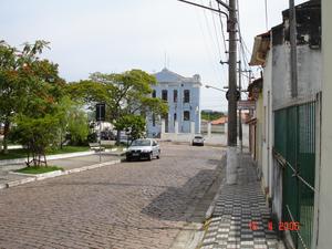 Porto Feliz - A street in downtown Porto Feliz
