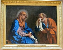 Guercino: St. Peter Weeping before the Virgin