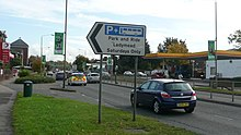 Guildford Ladymead park and ride sign.JPG