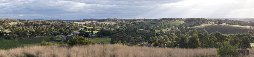 Panorama of Guildford from lookout