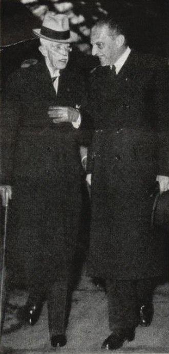 Erik Boheman - Boheman and King Gustaf V in Paris in 1947.