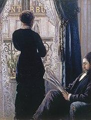 Intérieur, femme à la fenêtre