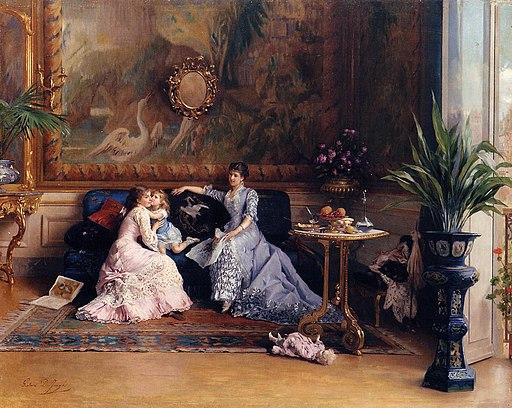 Gustave Léonard de Jonghe - The Afternoon Visit
