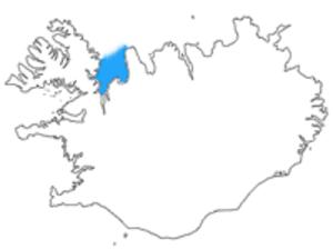 Húnaflói - Location of Húnaflói in Iceland