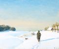 H.A. Brendekilde - Jæger med hund på en klar vinterdag.png