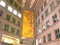 HK Kln Tong Tat Chee Avenue night 創新中心 InnoCentre lobby hall headroom interior hanging banner Jan-2009 a.jpg