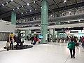 HK Lok Ma Chau MTR Station 落馬洲站 Bauhinia Rider sculpture Chinese Scuptor 蔣朔 Jiang Shuo Bronze statue March 2016 Concourse Level 3 DSC (1).JPG