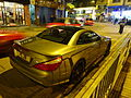 HK SYP Queen's Road West night Benz AMG grey car parking Jan-2016 DSC (5).JPG