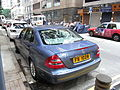 HK Sheung Wan 上環 樂古道 Lok Ku Road carparking Benz E240 back June-2012.JPG