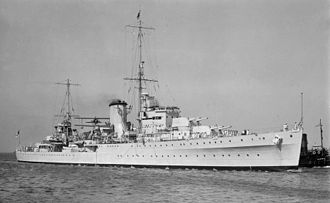 New Zealand Division of the Royal Navy - Image: HMNZS Achilles SLV Allan Green