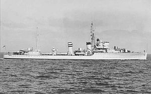 G and H-class destroyer - Hardy, 1936