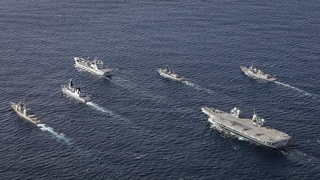 HMS Queen Elizabeth Carrier Strike Group during Westlant 19.jpg
