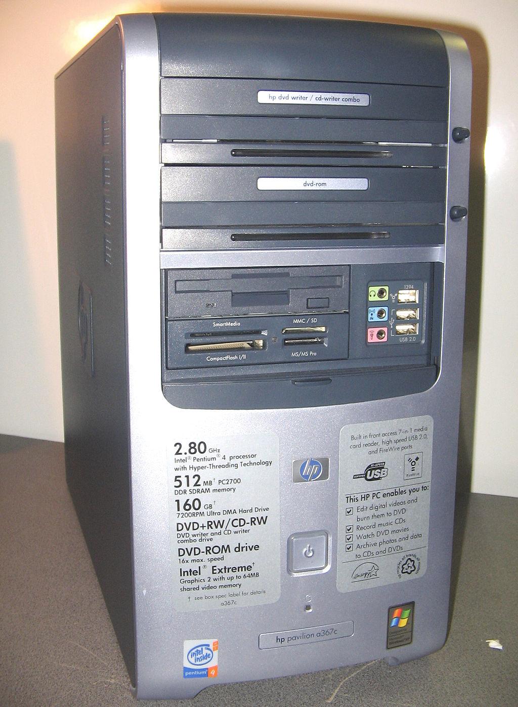 HP PAVILION a367c 2012 06 18