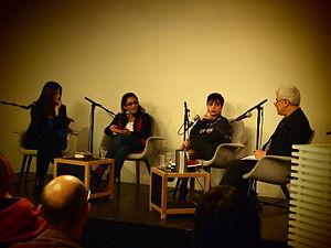 """Huzama Habayeb - Huzama Habayeb during """"Viewing Palestine"""" event in Oslo."""