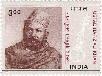 Hafiz Ali Khan - Hafiz Ali Khan on a 2000 stamp of India