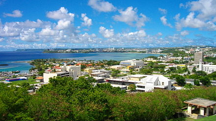 Hagatna (Agana) is the capital of the United States territory of Guam, ancient city of the Spanish possessions in Oceania and Asia Hagatna from Fort Santa Agueda.JPG