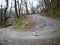 Hairpin bend on Eastwood Lane - geograph.org.uk - 1076399.jpg