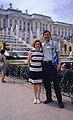 Hammond Slides Peterhof 52. Hammond and wife at the fountains.jpg