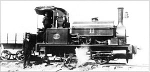 CGR 0-4-0ST 1881 - Black, Hawthorn-built no. 11, c. 1912