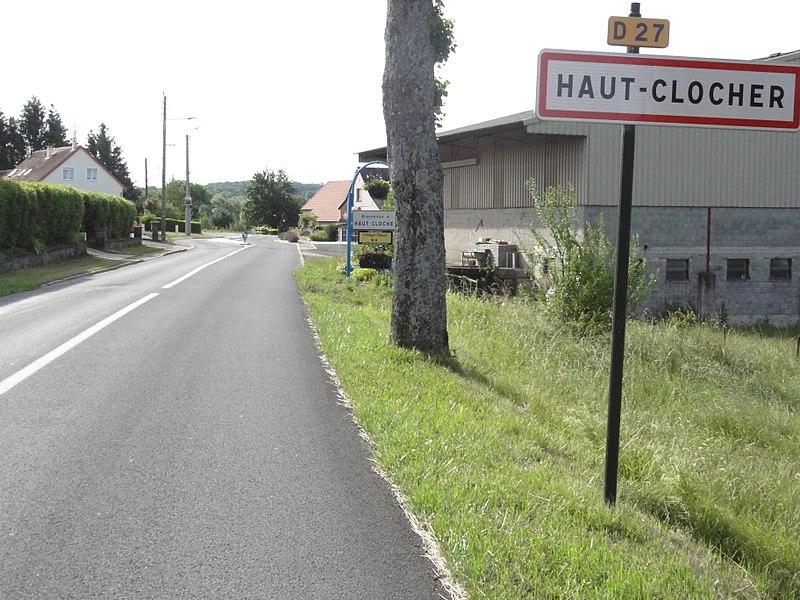 Haut-Clocher (Moselle) panneau d'entrée